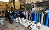 توزیع  بسته های  معیشتی در شهرستان فلاورجان به همت بسیج کارگری